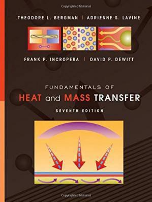 دانلود حل تمرین انتقال حرارت و جرم اینکروپرا Frank Incropera