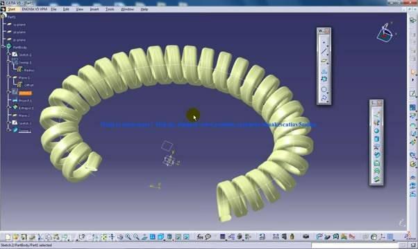 طراحی و مدلسازی سیم مارپیچ در نرم افزار کتیا