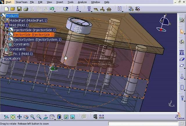 طراحی و مدلسازی قالب تزریق در نرم افزار کتیا