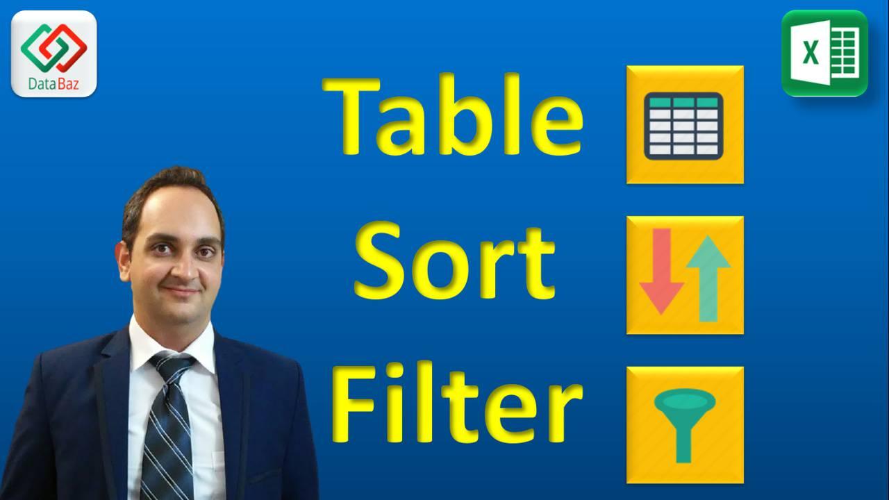 Table , Sort , Filter